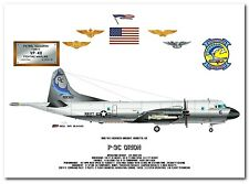P-3C Orion of the VP-40 Fighting Marlins, US Navy Patrol Aircraft print