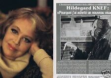 Coupure de presse Clipping 1980 Hildegard Knef   (7 pages)