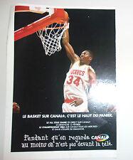PUBLICITE CANAL + // BASKET NBA // OLAJUWON ROCKETS