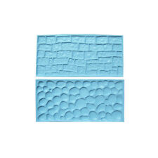 Cake Decorating Sugarcraft Cutters Silicone Cobblestone and Stone Wall Mould