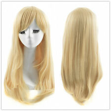 Disney Alice In Wonderland Cosplay Wig Long Natural Straight Blonde Wigs