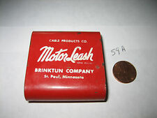 VINTAGE MOTOR LEASH CABLE HOLDER CABLE PRODUCTS CO. BRINKTUN ST. PAUL MN