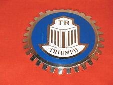 TRIUMPH ROUND CAR EMBLEM GRILL BADGE VINTAGE