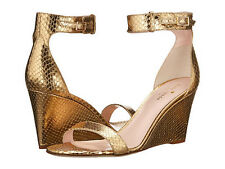 Kate Spade New York Ronia gold metallic python heels size 9 M new in box