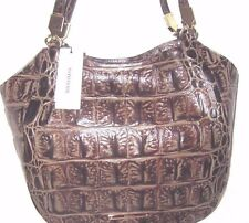 Brahmin New Marianna Espresso Orinoco Croco Embossed Leather Tote Bag NWT $325