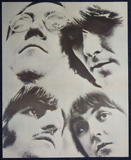 THE BEATLES REPRO 1968 WHITE ALBUM ERA POSTER PAGE TAKEN FROM BOOK . 30 X 25 CM