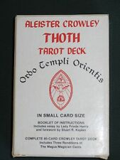 Vtg Aleister Crowley   THOTH    Tarot Deck   80 cards/instruction  1987
