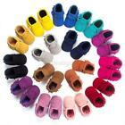 Cute Toddler Baby Infant Boy Girls Sole Moccasins Fringe Shoes 0-18M Candy Color