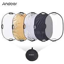 Handheld 90cm 5in1 Light Multi Oval Collapsible Photo Reflector Board Disc Q0G7