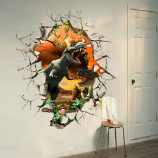 3D View Dinosaur kids room decor PVC Wall sticker Removable wall decals Mural