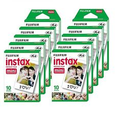 10 Packs Fujifilm instax Mini Film,100 Fuji instant photos 7s 8 50s 90 SP-1 300