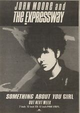29/4/89Pgn20 Advert: John Moore & The Expressway 'something About You Girl'