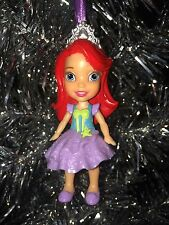 PRINCESS Disney THE LITTLE MERMAID ARIEL Custom Christmas Ornament GirlYoung NEW