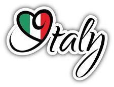 Italy Flag Slogan Car Bumper Sticker Decal 5'' x 4''