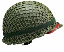 Retro Version Wwii Us Military Steel M1 Green Motorcycle Helmet Replica With Net