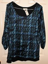 MULTI COLOR BOBBIE BROOKS LONG SLEEVE TOP SIZE 2X---NEW