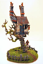 "WARHAMMER WAR GAME SCENERY ""HAUSE ON TREE MORENHEIM"" AGE OF SIGMAR PRO PAINTED"