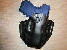 GLOCK 30,30S,29,29S  formed leather pancake owb belt holster, right hand
