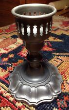 Single Empire Pewter Candlestick Gothic style hollow bottom RARE  Style 1121