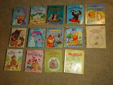 VINTAGE Little Golden Books Picture Book Lot 14 Hardcover Books