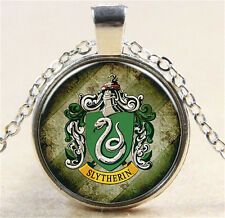 Vintage Harry Potter badge Cabochon Silver Glass Chain Pendant Necklace MD158