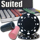 New 500 Suited 11.5g Clay Poker Chips Set with Aluminum Case - Pick Chips!