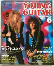 YOUNG GUITAR 6/1988 Japan Music Magazine Whitesnake Yngwie Malmsteen