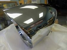 "HARLEY CHOPPER CUSTOM BILLET 4 1/2"" HEADLIGHT W/ VISOR  BIG DOG  STYLE CHROME"