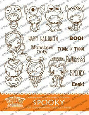 SPOOKY-The Greeting Farm Rubber Stamp-Stamping Craft-Halloween Anya/Bean