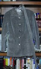 Valentino Miss V black striped corduroy jacket blazer W/belt size 12