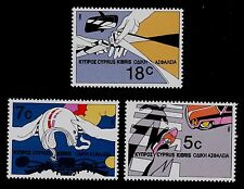 CYPRUS  SCOTT# 678-680  MNH   ROAD SAFETY TOPICAL