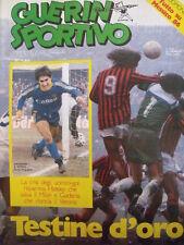 Guerin Sportivo 5 1985 [gs.28] con poster COMO 1984-85 - Inserto CalcioMondo Mex