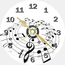 Musical Notes Novelty Cd Clock Can be personalised