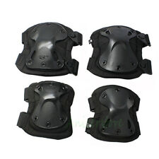 Tactical Combat Sports Outdoor Knee and Elbow Protective Pads Safety Set Black