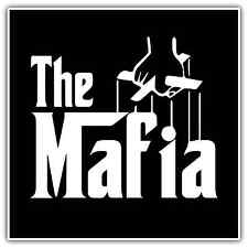 "Mafia Godfather Crime Family Gangster Car Bumper Vinyl Sticker Decal 4.6""X4.6"""