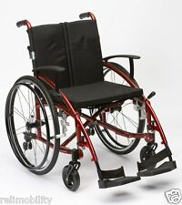 Enigma Spirit Lightweight Aluminium Folding Self Propelled Wheelchair Red
