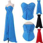 MATERNITY WEDDING Evening Gown Bridesmaid dress Prom Formal Long Dress SIZE 6-16