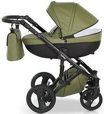 Isofix Lettino Baby Carrozzina Buggy 3in1 Passeggino Passeggino Seggiolino Auto sistema da viaggio