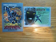 1993 MARVEL COMICS ANNUALS PROMO CARD # 4 BLOOD WRAITH AVENGERS VILLAIN