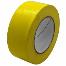 STRONG RELIABLE 50m x 48mm YELLOW ADHESIVE GAFFA DUCT DUCK CLOTH REPAIR TAPE DIY