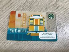 STARBUCKS $0 Gift Card SAN FRANCISCO 2015 Golden Cable Car Sunset Collectible