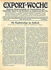 Prof.Moritz Julius Bonn, München Die Kapitalanlage im Ausland Kolonialfragen1912