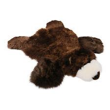 Lammfell Teppich Grizzly für Kinder braun Naturton Geschenk Merino Fell