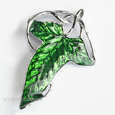 LOTR Lord Of The Rings Hobbit Frodo Legolas Aragon ELVEN LEAF BROOCH PIN