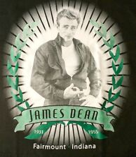 JAMES DEAN GALLERY T-SHIRT Laurel Leaves with Ribbon and Rays FAIRMOUNT INDIANA