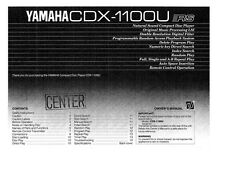 Yamaha CDX-2000 CD Player Owners Manual