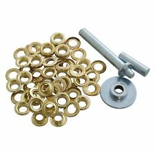 Heavy Duty Tarpaulin repair kit Tarp Awning Groundsheet Eyelet Grommets Inc Tool