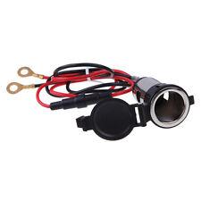 Car Motorcycle 12V 120W Metal Cigarette Lighter Socket Power Outlet Plug Female