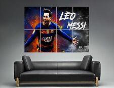 LEO MESSI BARCELONA-BARCELONE FC FOOTBALL  Wall Art Poster Grand format A0