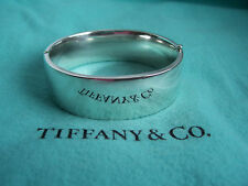 TIFFANY & CO. STERLING SILVER HINGED BANGLE!!!